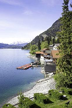 Townscape, Walchensee, Upper Bavaria, Bavaria, Germany, Europe