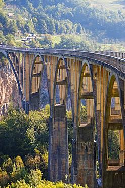 Tara Bridge, Durdevica, Tara Gorge, Durmitor National Park, Pljevlja Province, Montenegro, Europe
