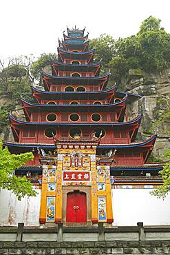 Shibaozhai Pagoda, Chongqing Province, China, Asia