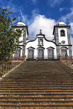 Stairs to the pilgrimage church Nossa Senhora do Monte, Monte, Funchal, Madeira, Portugal, Europe