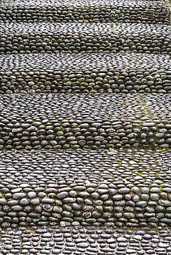 Pebble staircase, Funchal, Madeira, Portugal, Europe