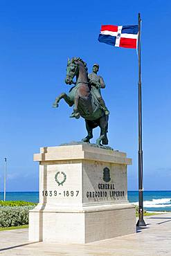Rider Statue of General Gregorio Luperon, 1839-1897, Military and State Leader, Puerto Plata, Dominican Republic, Central America