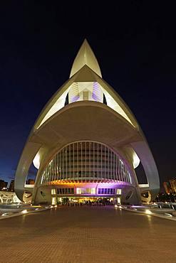 Opera, Palau de Les Arts Reine Sofia, Dawn, CAC, Ciutat des les Arts i les Ciencies, Architect Santiago Calatrava, Valencia, Spain, Europe