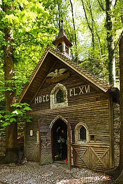 Marienklause Chapel, Harlaching district, Munich, Upper Bavaria, Bavaria, Germany, Europe