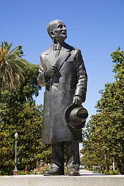 Spanish architect Anibal Gonzalez Alvarez-Ossorio, statue, Plaza de Espana, Sevilla, Andalusia, Spain, Europe