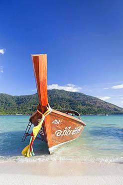 Longtail boat, Ko Lipe island, Tarutao Marine National Park, Thailand, Asia