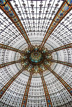 Dome, Art Nouveau, Galeries Lafayette department store, Paris, Ile-de-France, France, Europe