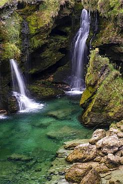 Waterfall at the Traunfall, Upper Austria, Austria, Europe