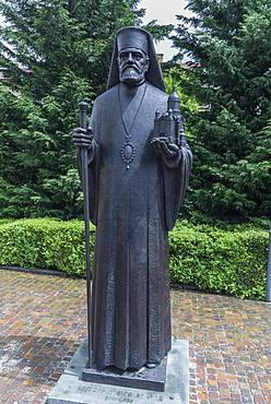 Sculpture by Nicolae Ivan, 1855-1936, Romanian priest, Cluj-Napoca, Transylvania, Romania, Europe