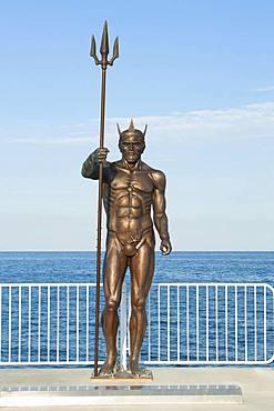 Sculpture of Neptune on sea pier, Saints Constantine and Helena, Bulgaria, Varna, Bulgaria, Europe