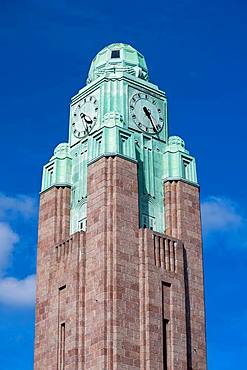 Clock Tower, Central Station, Helsinki, Finland, Europe