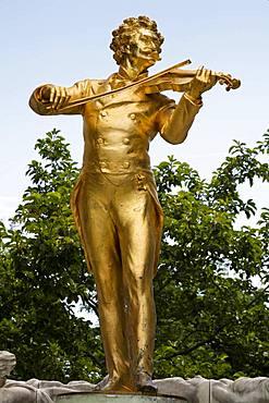 Johann Strauss, composer, statue, Stadtpark, Vienna, Austria, Europe