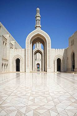 Great Sultan Qabus Mosque, Muscat, Oman, Asia