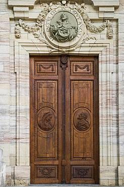 Entrance door, St Blasien Cathedral, St Blasien, Black Forest, Baden-Wuerttemberg, Germany, Europe