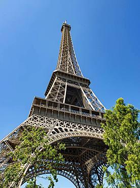 Eiffel Tower, Tour Eiffel, Champ de Mars, Paris, Ile-de-France, France, Europe