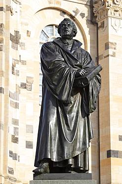Luther Monument, Neumarkt, Dresden, Saxony, Germany, Europe