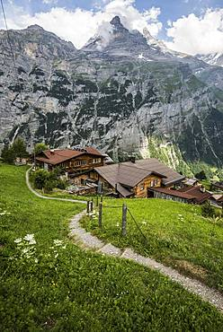 Gimmelwald, Lauterbrunnen Valley, Lauterbrunnen, Jungfrau-Aletsch-Bietschhorn World Heritage Site, Canton of Bern, Bernese Oberland, Switzerland, Europe