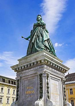 Maria Theresia Memorial, Austrian Empress, Neuer Platz, Klagenfurt, Carinthia, Austria, Europe