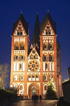 Limburg Cathedral, St. George's Cathedral, night shot, Limburg a. d. Lahn, Hesse, Germany, Europe