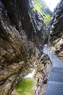 Natural monument, Burggrabenklamm, Unterburgau, Unterach, Salzkammergut, Upper Austria, Austria, Europe