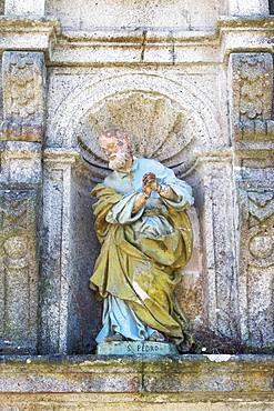 St. Martin of Tibaes Monastery, Rooster's Patio, Patio de Galo, Saint Peter sculpture, Braga, Minho, Portugal, Europe