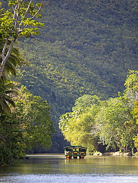 Excursion boat on the Loboc River, Bohol Island, Central Visayas, Philippines, Asia