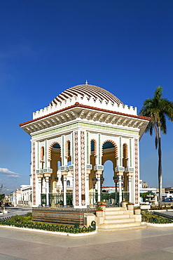 The eye-catching gazebo at the Parque Cespedes, Manzanillo, Cuba, Central America