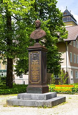 Crown Prince Rudolf, Rudolf Monument in Rudolfspark, Bad Ischl, Salzkammergut, Upper Austria, Austria, Europe