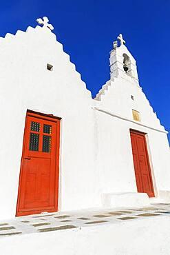 Greek orthodox chapel, Mykonos Town, Mykonos, Cyclades Islands, Greece, Europe