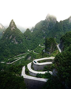 Road up to Tianmen Mountain, China, Asia