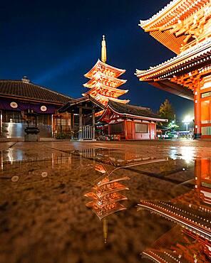 Senso-Ji Temple in Tokyo, Japan, Asia