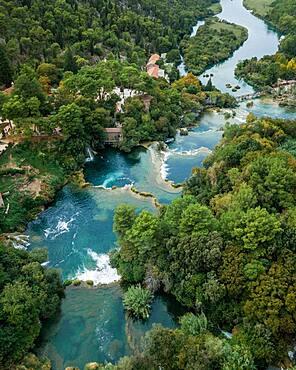 Cascades, Krka National Park, Sibenik-Knee Region, Dalmatia, Croatia, Europe