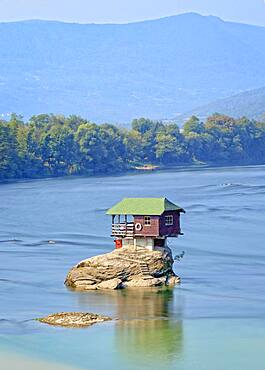 House on the River Drina, Bajina Basta, Serbia, Europe