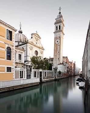 Church of San Giorgio dei Greci with reflection, Venice, Italy, Europe