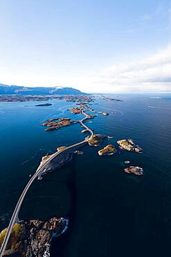 UAV recording, Atlantic Ocean Road, Vevang, Norway, Europe