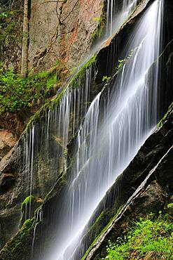 Schleierwasserfall, gorge, Wimbachklamm, Ramsau, Berchtesgadner Land, Bavaria, Germany, Europe