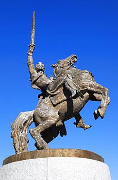 Equestrian statue of king Svatopluk, Bratislava Castle, Bratislava, Slovakia, Europe