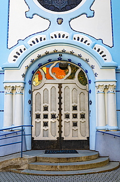 Portal of Saint Elisabeth Church, Blue Church, Secession style, Hungarian Art Nouveau, Bratislava, Slovakia, Europe