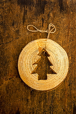 Christmas decoration in shape of fir, France, Europe