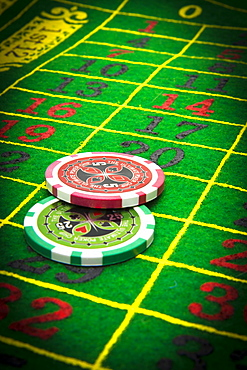 Gambling chips, France, Europe
