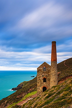 View of Wheal Coates, Chapel Porth Mine, St. Agnes, Cornwall, England, United Kingdom, Europe