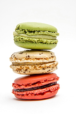Multicolored macaroons, France, Europe