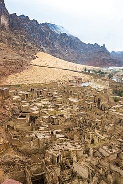 The old ghost town of Al Ula, Saudi Arabia, Asia