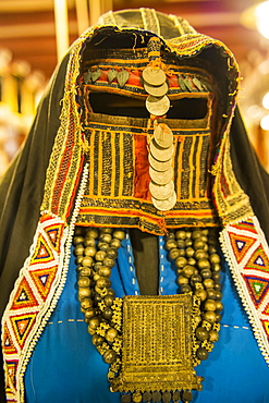 Traditional women dress, Al Taybat City Museum, Jeddah, Saudi Arabia, Asia