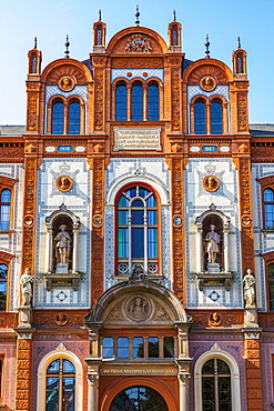 Renaissance facade of the University of Rostock, Rostock, Baltic Sea, Mecklenburg-Western Pomerania, East Germany