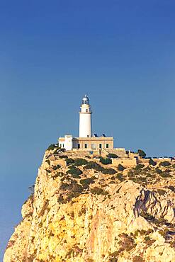 Lighthouse Cap Formentor text free space copyspace Balearic Islands travel travel in Majorca, Spain, Europe