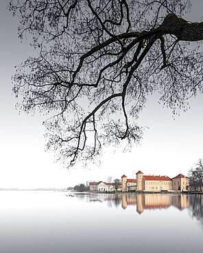 Rheinsberg Castle with perfect reflection, Rheinsberg, Germany, Europe