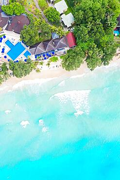 Beach luxury sea ocean aerial view bird's eye view, Mahe, Seychelles, Africa