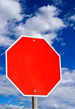 Blank, stop sign, USA, North America