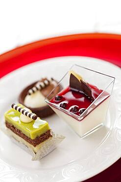 Beautiful tantalizing italian pastries on a plate